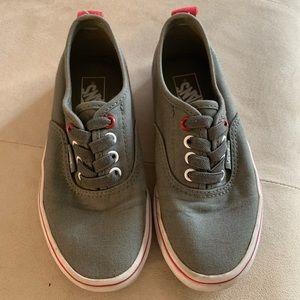 Kids Vans Grey/Red size 13